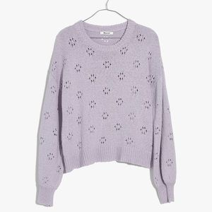 Madewell Floral Pointelle Pullover Sweater